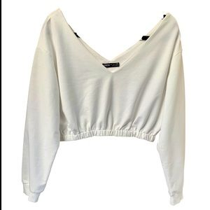 NWOT SHEIN White Cropped Cotton Top
